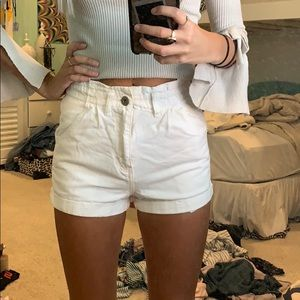 White scrunch top shorts